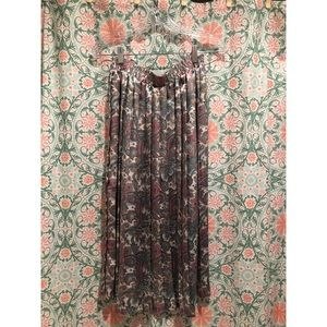 VINTAGE Pleated paisley 60's Woodstock skirt 70's